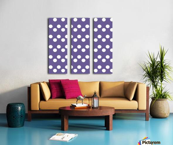 Ultra Violet Polka Dots Split Canvas print