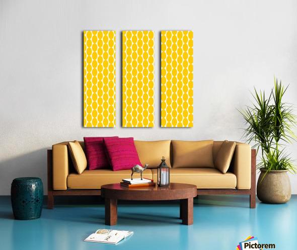 Yellow  egg shape Split Canvas print