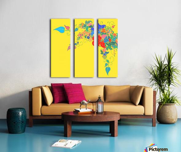Vibrant Floral Design  Split Canvas print