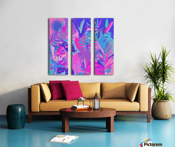 Tropical Leaves Abstract  Split Canvas print