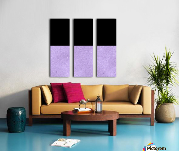 ABSTRACT PURPLE GLITTER Split Canvas print