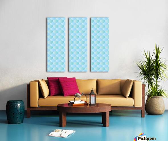 GREEN PASTEL MERMAID PATTERN Split Canvas print
