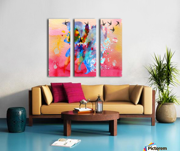 run through Duality of mind  Split Canvas print