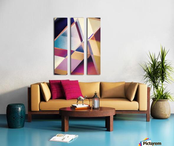 Composition des Pyramides Split Canvas print