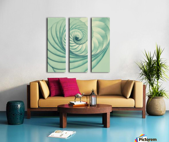 Composition in Celadon Split Canvas print