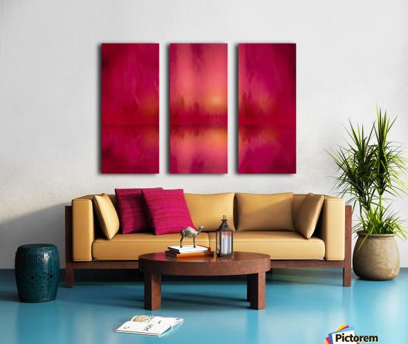 Red Sky at Night Split Canvas print