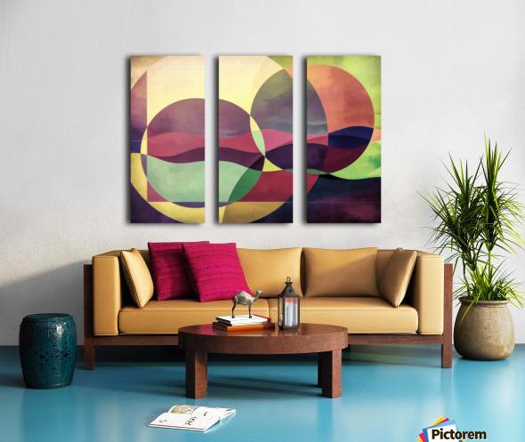 Middle Ground Split Canvas print