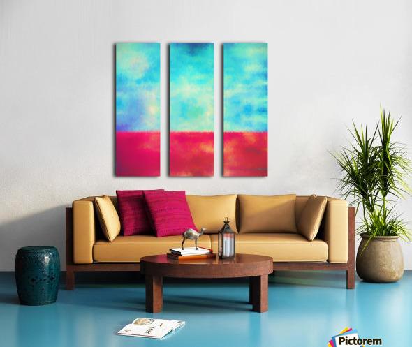 Red Horizon Split Canvas print