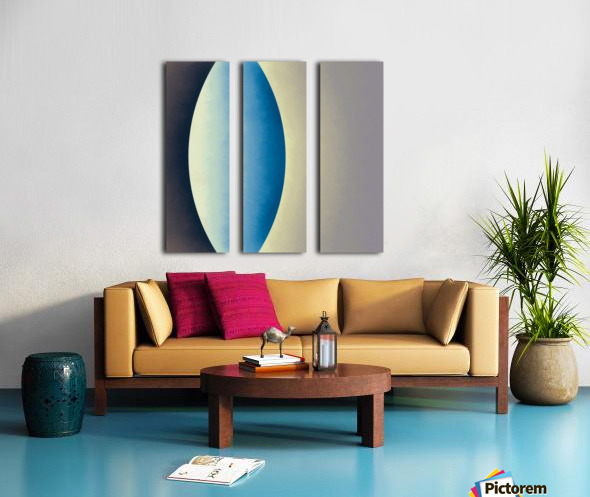 Blue Moon Split Canvas print