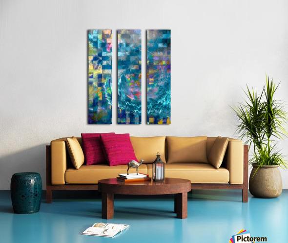A Vision in Blue Split Canvas print