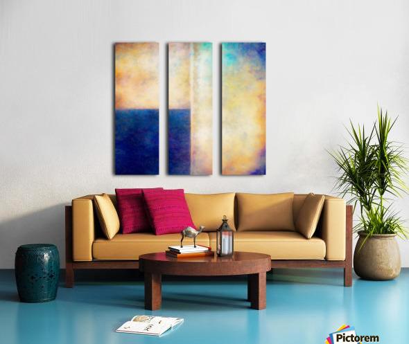 Blue Zone Split Canvas print