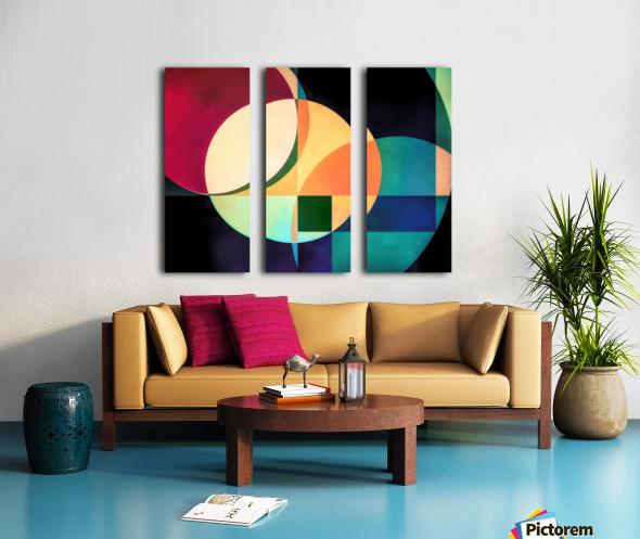 Composition Planétaire Split Canvas print