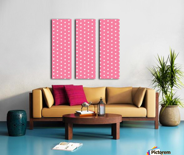 Pink Sherbet Heart Shape Pattern Split Canvas print