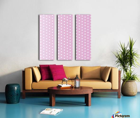Spring Pink Heart Shape Pattern Split Canvas print