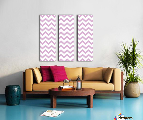 ORCHID CHEVRON Split Canvas print