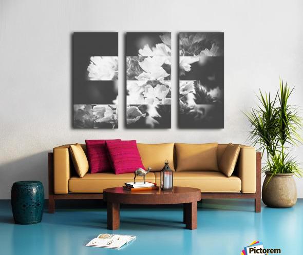 Flower Bells Collage BnW Split Canvas print