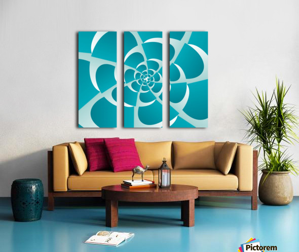 Blue Grill Split Canvas print