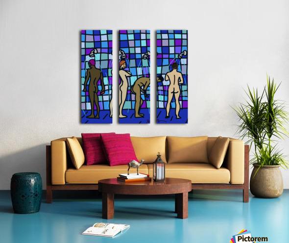 Shower Boys Split Canvas print