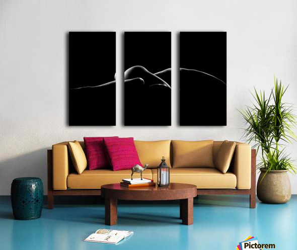 Nude woman bodyscape 7 Split Canvas print