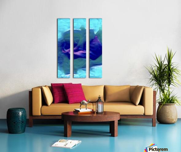 Flora of Paint Split Canvas print