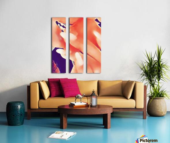 Desires in Peach Split Canvas print