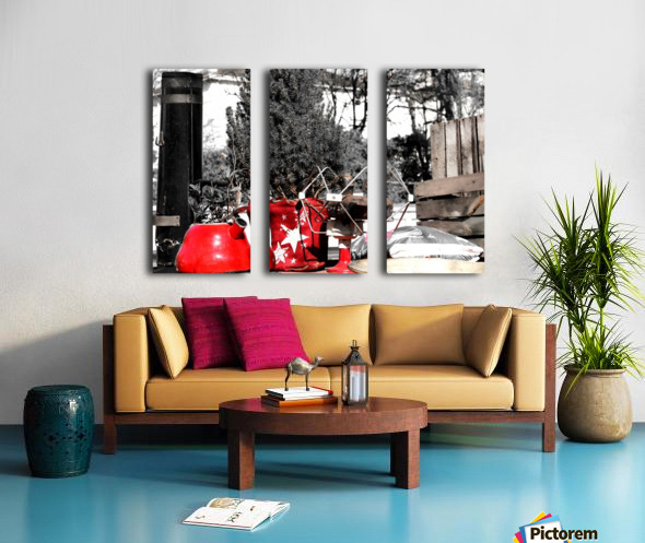 Red Kettle Split Canvas print