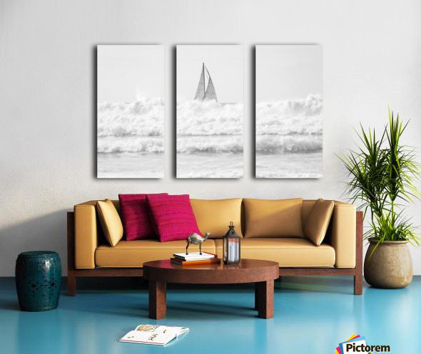 SAILING IN THE SURF Split Canvas print