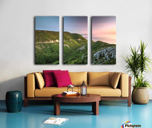 Skyline Sunset Split Canvas print
