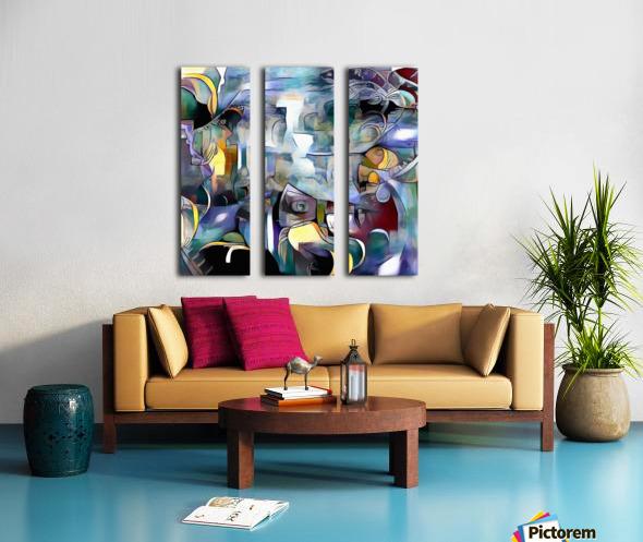 Illusion of Existence Split Canvas print