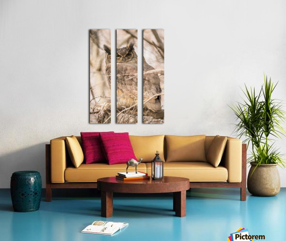 Great horned Split Canvas print
