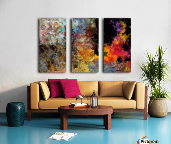 Flame Split Canvas print