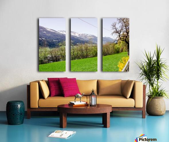 Niedernsill Landscape Austrian Alps Split Canvas print