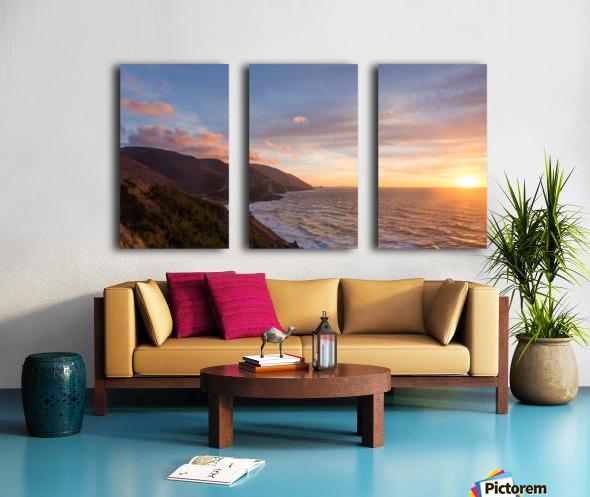 Sunshine Coast Split Canvas print