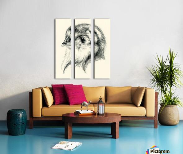 Black Australorp Chick in Charcoal Split Canvas print