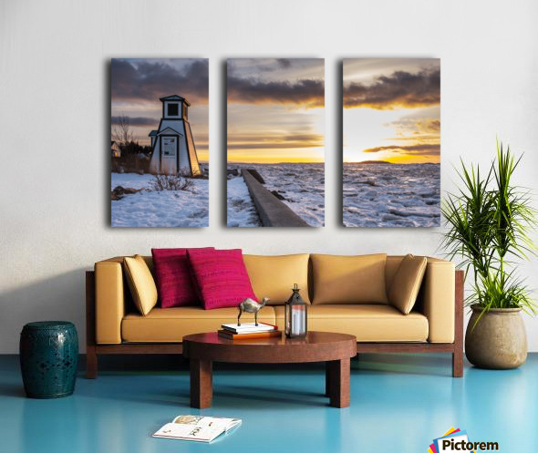 A winter evening Split Canvas print