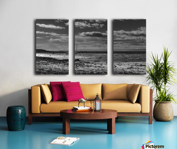 Autumn loneliness Split Canvas print