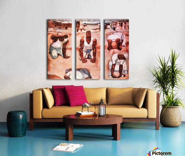 The men by Albin Egger-Lienz Split Canvas print