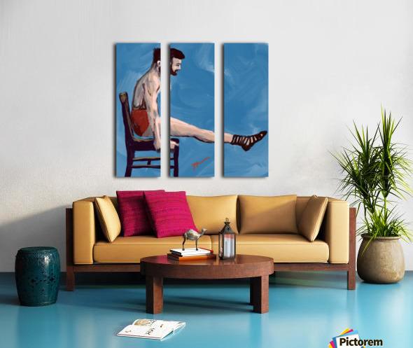 Body Strength Split Canvas print
