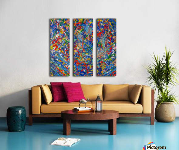 BLUE WORLD II Split Canvas print