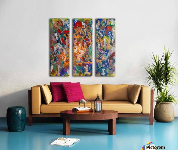 EXALTATION Split Canvas print