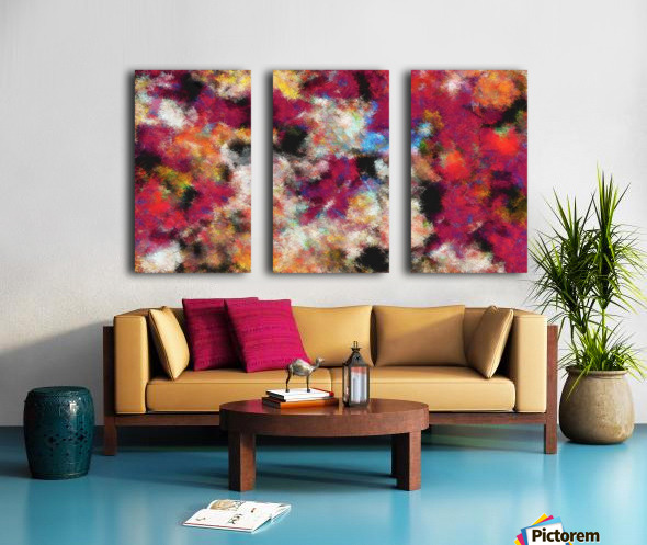 Reef and Rust Split Canvas print