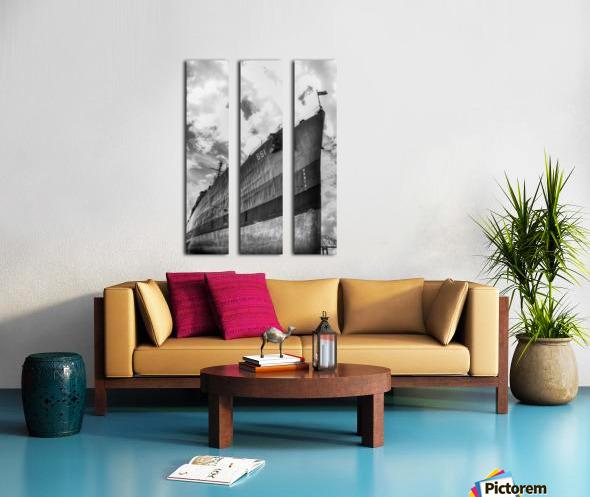 Tanked Split Canvas print