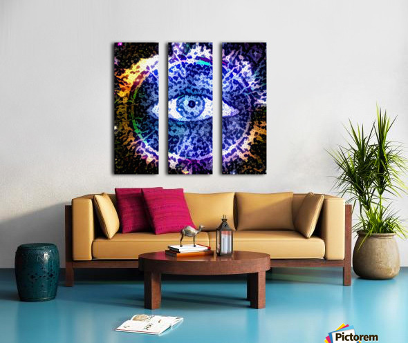 Beautiful Eye Design Split Canvas print