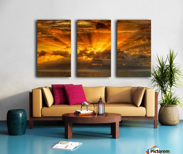 Polynesian Sunrise Split Canvas print