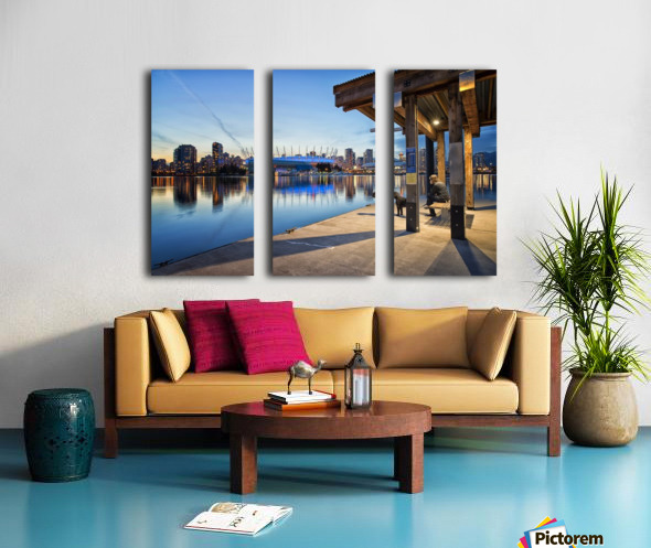 Waiting for Water Taxi Split Canvas print
