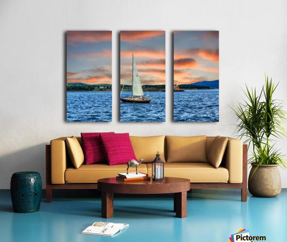 Sailboat and Lighthouse Split Canvas print