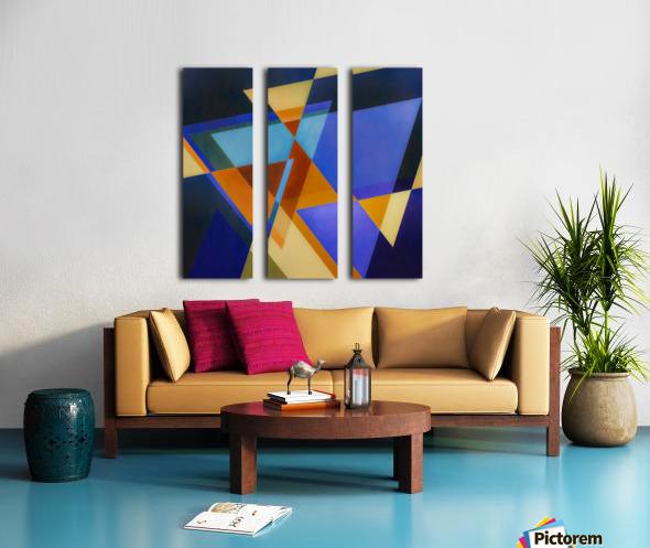A Flight of Arrows Split Canvas print