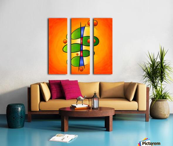 Tessanimia - colourful spring flower Split Canvas print