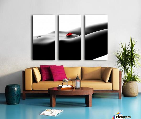 Nude bodyscape on white 1 Split Canvas print
