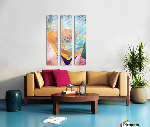 Abstract Sunset - Illustration VI Split Canvas print